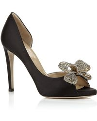 Valentino Couture Crystal Peep Toe Pump - Lyst
