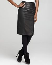 Burberry London Stretch Leather Pencil Skirt - Lyst
