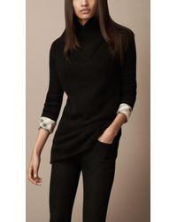 Burberry Brit - Shawl Collar Cashmere Tunic - Lyst