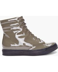 Jeffrey Campbell - Olive Patent Cell2 Sneakers - Lyst