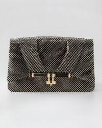 Kara Ross - Priscilla Glitter Mesh Shoulder Bag - Lyst