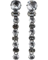 Lanvin | Crystal Drop Orphee Earrings | Lyst
