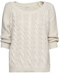 Mango Cotton Cable Knit Jumper - Lyst