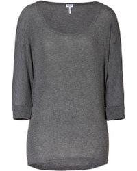 Splendid Steel Heather 34 Dolman Sleeve Tshirt gray - Lyst
