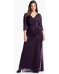 Adrianna Papell Beaded Mesh Gown - Lyst