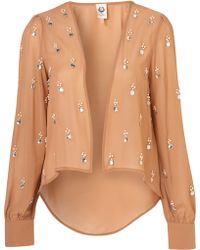 Topshop Embellished Jacket By Cocos Fortune - Lyst
