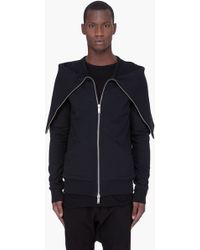 Gareth Pugh Black Tube Collar Jacket - Lyst