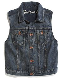 Madewell Goldrush Denim Vest in Storm Cloud Wash - Lyst