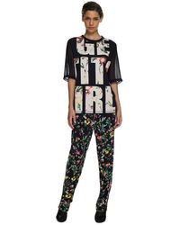 3.1 Phillip Lim Laundered Cotton Jersey  'Get It Girl' T-Shirt - Lyst