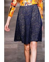Carven Lace Skirt - Lyst