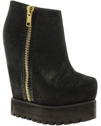 Senso Zia Zip Platform Wedge Ankle Boots - Lyst