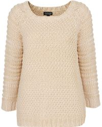 Topshop Knitted Chunky Stitch Jumper - Lyst