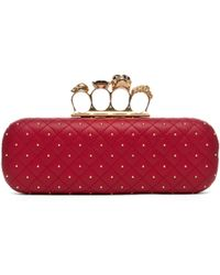 Alexander McQueen Knuckle Box Long Clutch in Cherry - Lyst