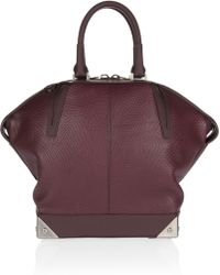 Alexander Wang Small Emile Lizardeffect Leather Tote - Lyst