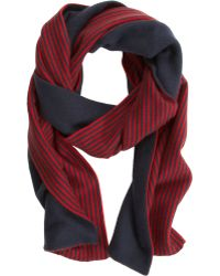 Armand Diradourian - Reversible Solid Striped Scarf - Lyst