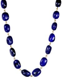 Me&Ro - Large Lapis Baroque Chain - Lyst