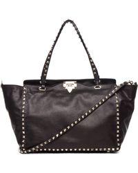 Valentino Noir Rockstud Mini Tote Bag - Lyst