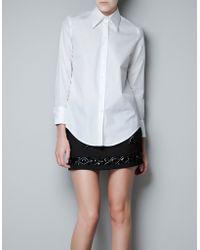 Zara  Poplin Studio Shirt - Lyst