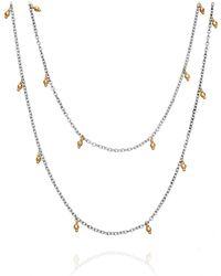 Mizuki - Long Drop Bead Necklace - Lyst