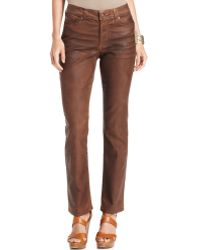 Not Your Daughter's Jeans Sheri Coated Skinny Jeans Terra Tan - Lyst