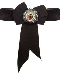 Temperley London Regal Suede and Crystal Belt - Lyst