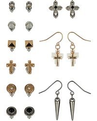 Topshop Cross Spike Stud Multipack - Lyst
