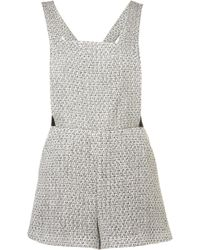 Topshop Boucle Pinafore Playsuit - Lyst
