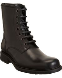 Barneys New York Side Zip Combat Boot - Lyst