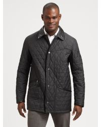 Ferragamo Quilted Tech Coat - Lyst