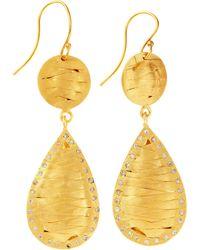 Kevia - Woven Teardrop Earrings - Lyst