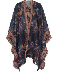 Mulberry - Tasseled Wool Wrap - Lyst