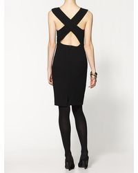 BCBGMAXAZRIA Cross Back Dress - Lyst