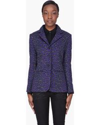 Christopher Kane Purple Wool Leopard Blazer - Lyst