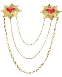 Ktz Heart Brooch - Lyst