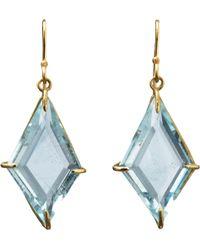 Rosanne Pugliese - Blue Topaz Geometric Drop Earrings - Lyst