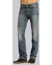 7 For All Mankind - Ryan 5 Pockets Denim Fleece Light Blue - Lyst