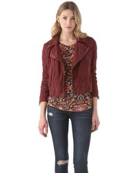 Bliss and Mischief - Billy Suede Jacket - Lyst