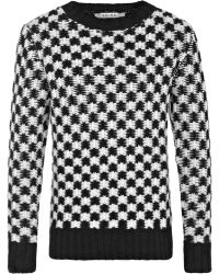 Reiss Checked Jacquard Jumper - Lyst