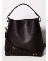 Sophie Hulme Black Stamped Leather Bucket Bag By Sophie Hulme - Lyst
