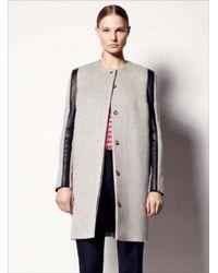 Sophie Hulme   3d Sleeve Wool Leather Coat   Lyst