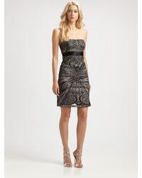 Sue Wong Sequin Velvet Dress - Lyst