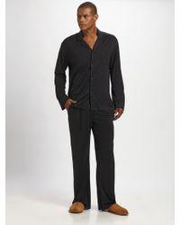 American Essentials - Silk/cotton Striped Pajama Set - Lyst