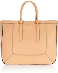 Chloé T Leather Tote - Lyst