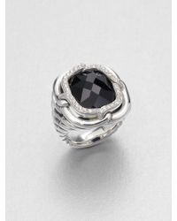 David Yurman Diamond Sterling Silver Ring - Lyst