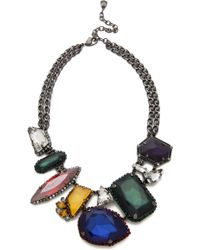 Erickson Beamon - Oxidized Colored Stone Necklace - Lyst