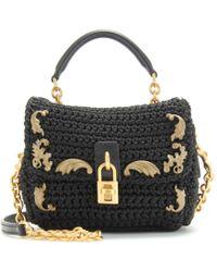 Dolce & Gabbana Mini Flapover Shoulder Bag with Embellishment - Lyst