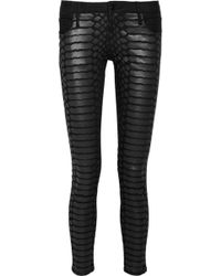 Sass & Bide - The Last Stand Crocprint Cropped Skinny Jeans - Lyst
