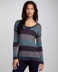 Splendid Shimmery Striped Knit Sweater - Lyst