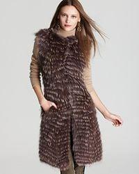 Theory Vest Caris Bavarian Coyote Fur - Lyst