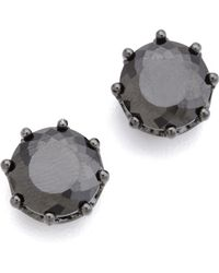 Juicy Couture - Jet Oversized Stud Earrings - Lyst